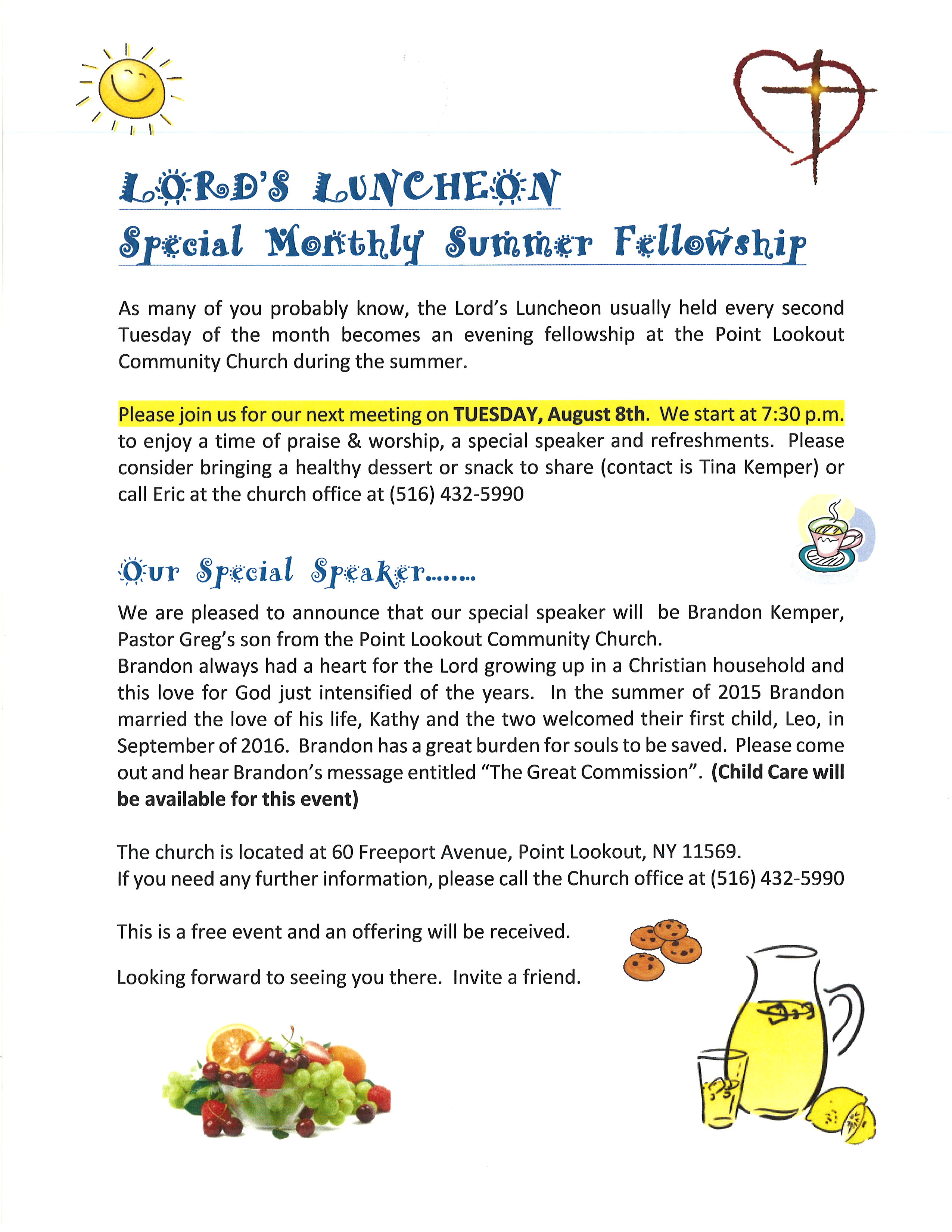 Lord's Luncheon, Tue, August 8th, 2017