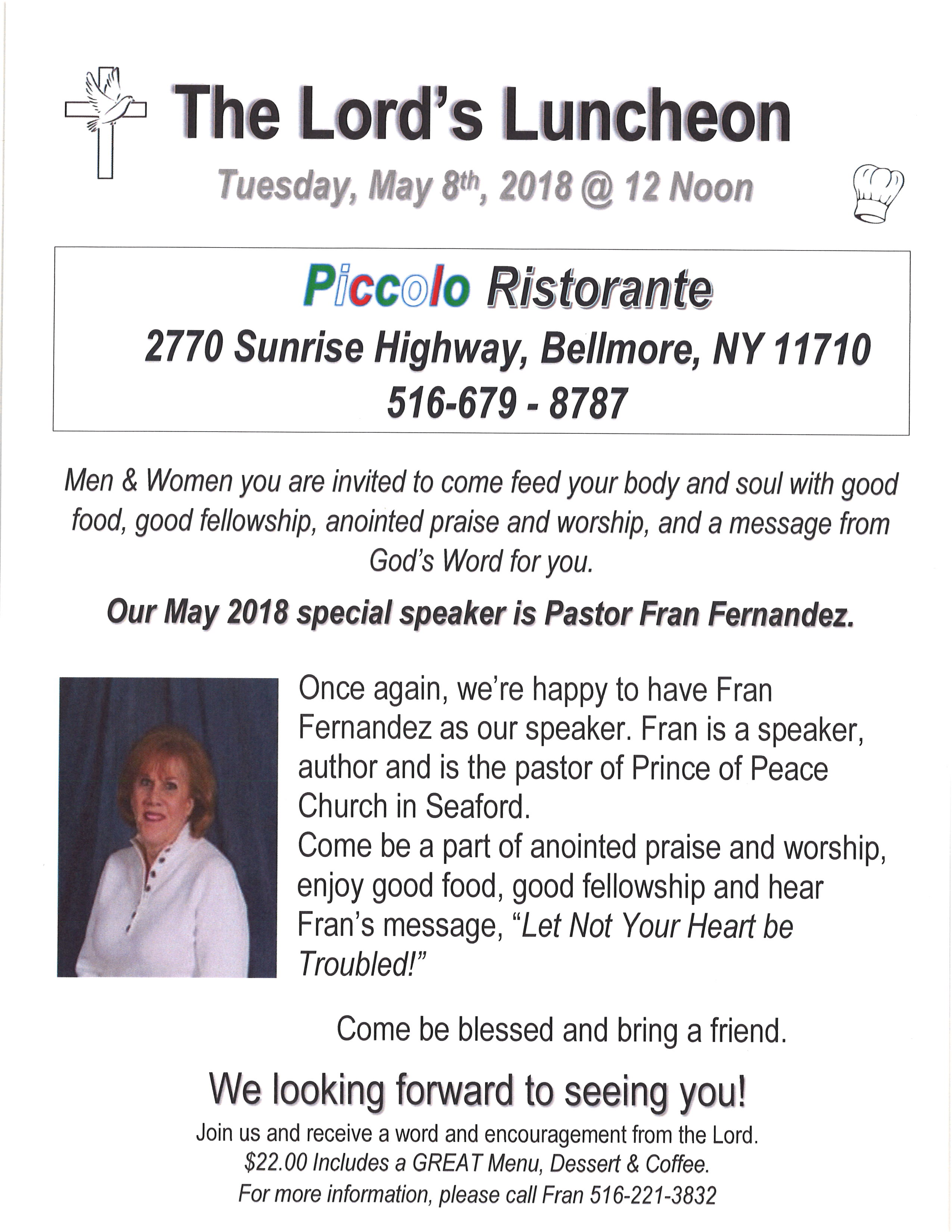May 2018 Lord's Luncheon Fran Fernandez
