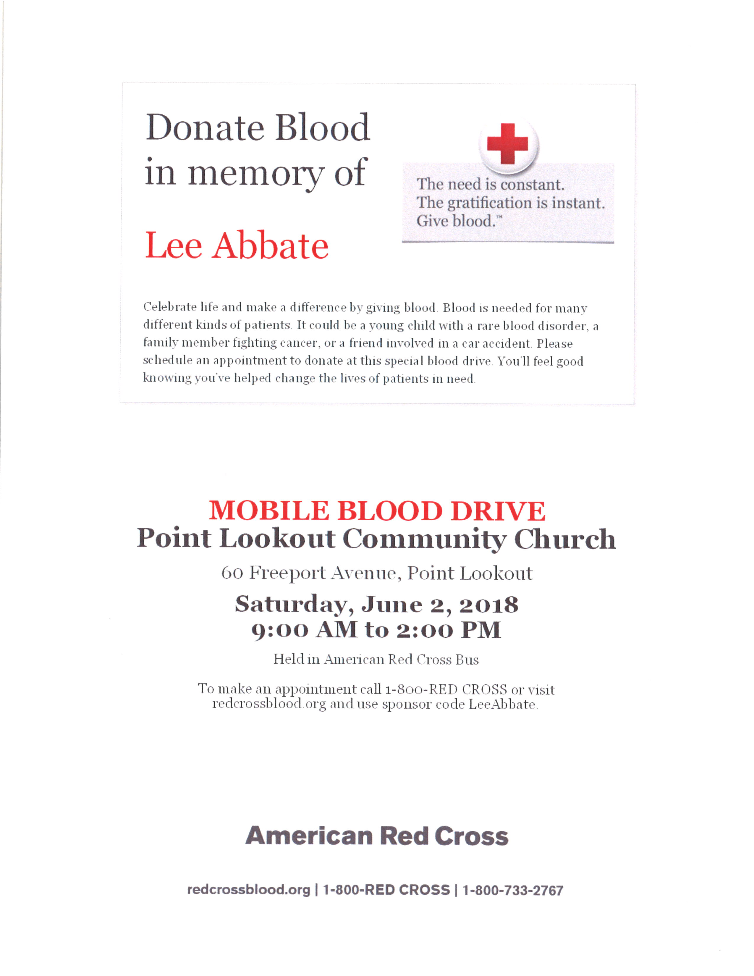 June 2018 Blood Drive